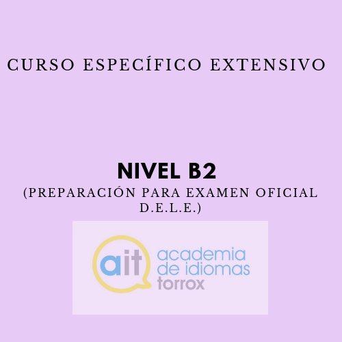 Curso Específico Extensivo Nivel B2 (Preparación para examen oficial D.E.L.E.)