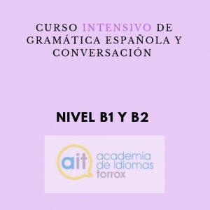 Curso intensivo de gramática española y conversación (B1 y B2)