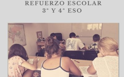 Curso de refuerzo escolar 3º y 4º ESO