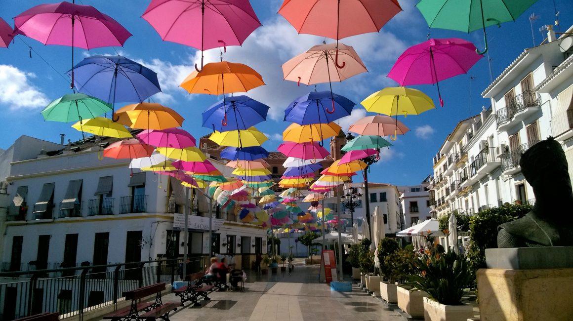 Torrox Pueblo paraguas